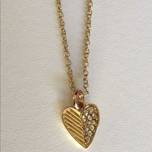 Charter Club Gold Tone Heart Necklace
